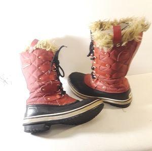 Sorel Pink Tall Furry Duckboots Joan of Arctic 6